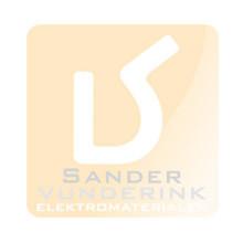 Wandcontactdoos met RA + kinderveilig met 2 USB lader aansluiting Alpinwit (hagelwit)